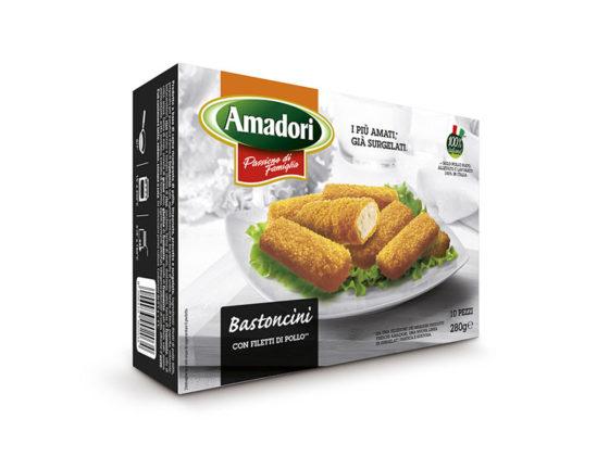Bastoncini con filetti di pollo Amadori