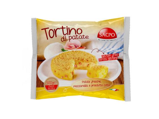 Tortino di Patate, Mozzarella e Prosciutto Cotto